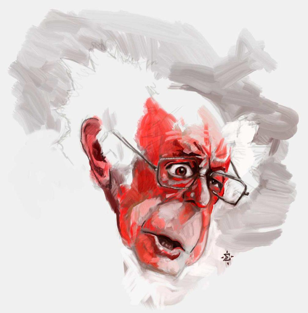 Bernie Sanders caricature