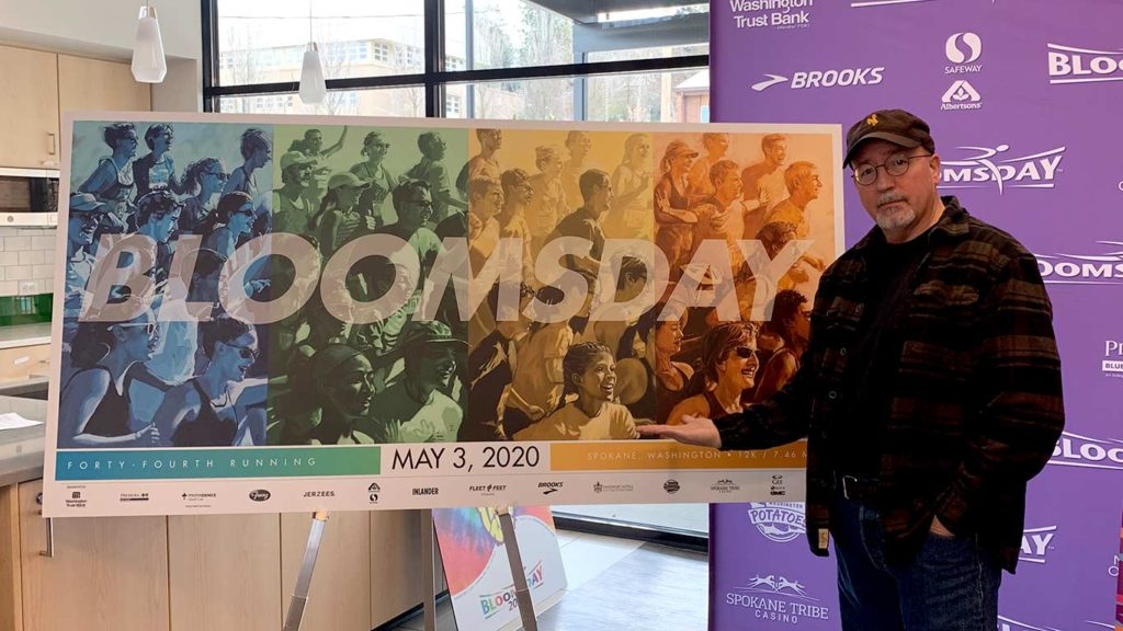 Bloomsday posters and artist Steve Merryman