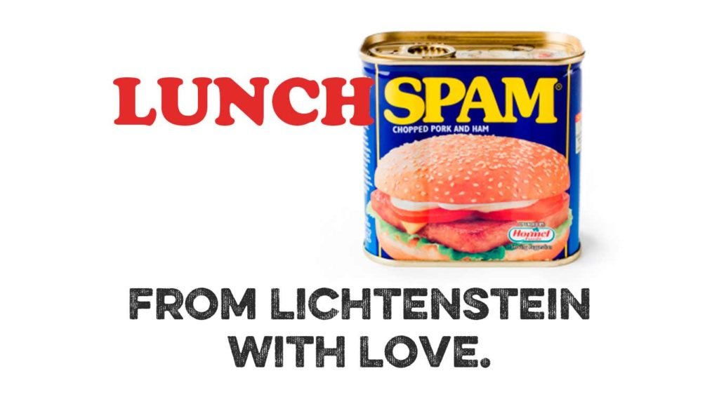 Lunch SPAM Lichtenstein