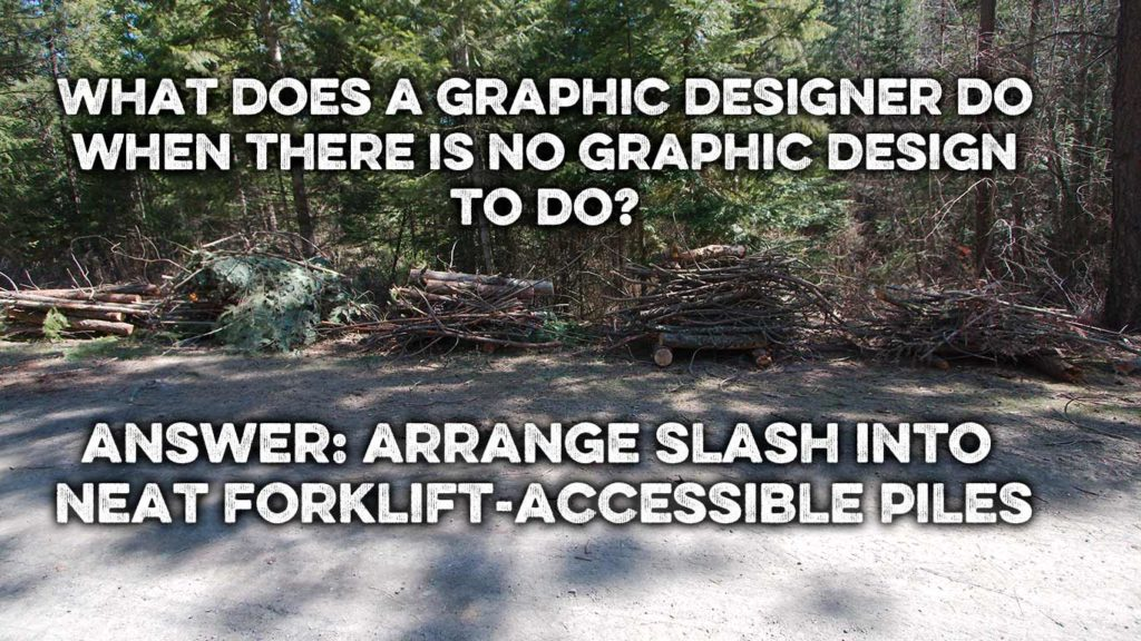 designer slash piles