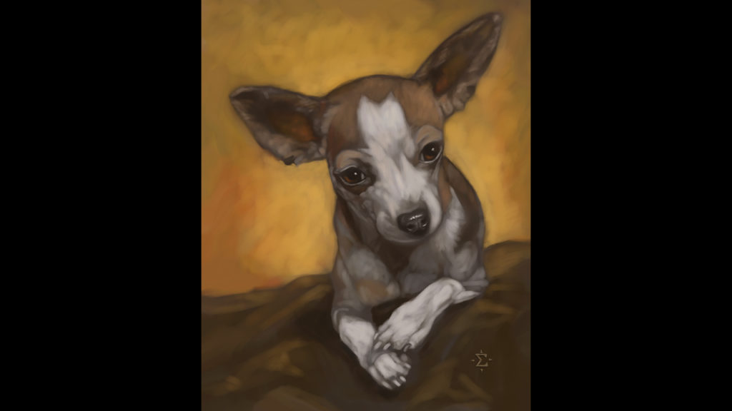 sherlock pet portrait
