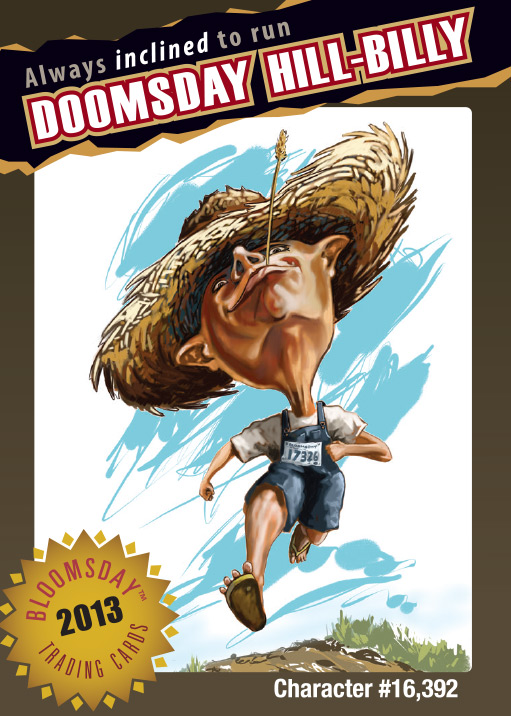 Bloomsday Trading Card Hill Billy