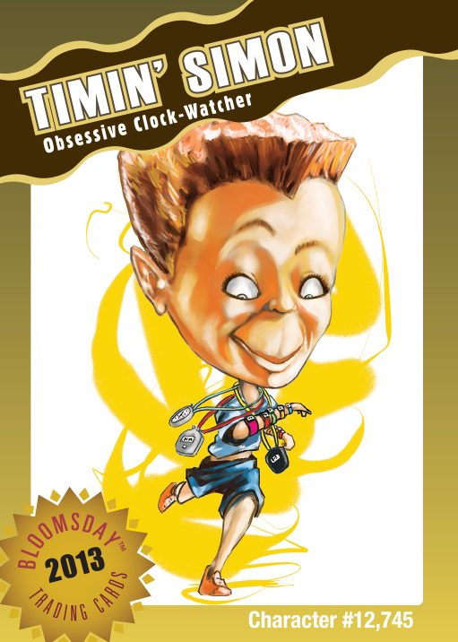 Bloomsday Trading Card Timin' Simon
