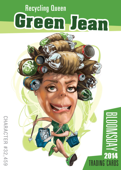 Bloomsday Trading Card Green Jean
