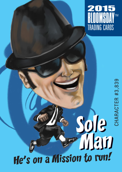 Bloomsday Trading Card Sole Man
