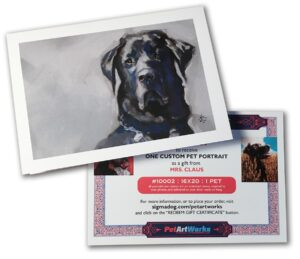 gift certificate with card