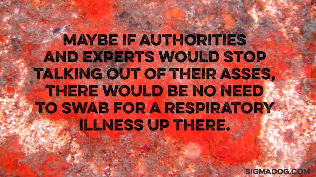 kung flu anal swab