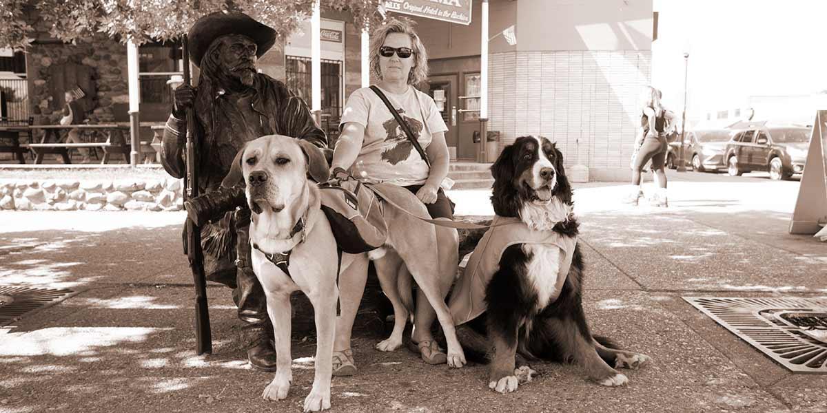 big dogs and Bill Cody